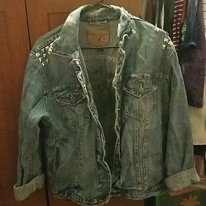 American Eagle over size jean jacket